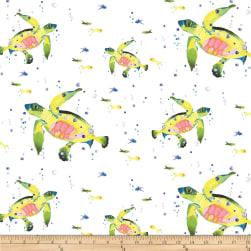 Lakeside Fun White Fabric