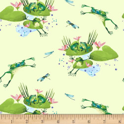 Lakeside Fun Light Lime Fabric