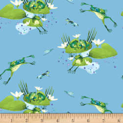 Lakeside Fun Light Blue Fabric