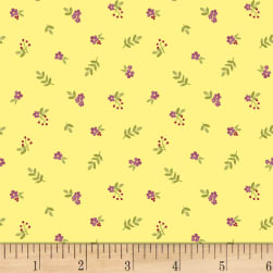 Fresh Picked Small Flowers Light Lime Fabric