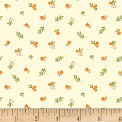 Fresh Picked Small Flowers Light Butter Fabric