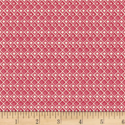 Fresh Picked Diamonds Light Red Fabric