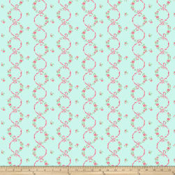 Kiss Goodbye Ribbon Bloom Mint Fabric