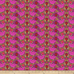 Garden Dreams Birds Pink Fabric
