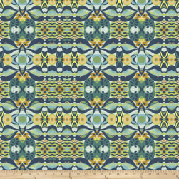 Garden Dreams Wave Blue Fabric