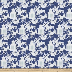 Tanya Whelan Gazebo Toile Blue Fabric