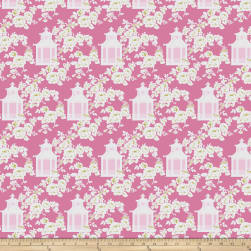 Tanya Whelan Gazebo Toile Pink Fabric
