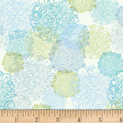 Spring Robins Floral Light Cream Fabric