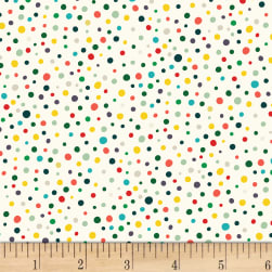 Over and Under Dots Light Cream Fabric