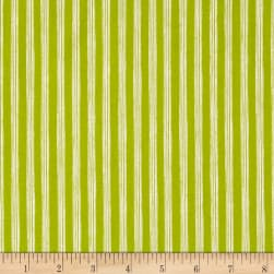 Nautical Fish Stripes Olive Fabric