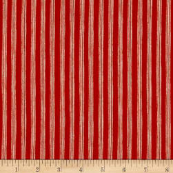 Nautical Fish Stripes Light Tomato Fabric