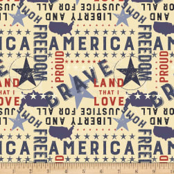 Land That I Love Americana Multi Color Fabric
