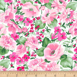 Chelsea Large Floral White Fabric