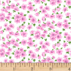 Chelsea Small Floral White Fabric