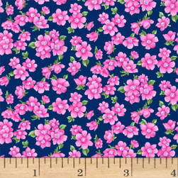 Chelsea Small Floral Light Navy Fabric
