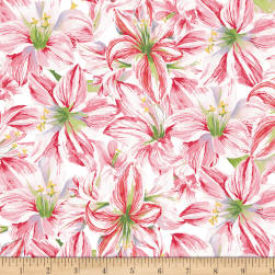 Holidays Remembered Floral White Fabric