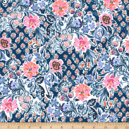 Elephant's Garden Floral Light Navy