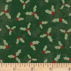 Home For Christmas Misletoe Forest Fabric