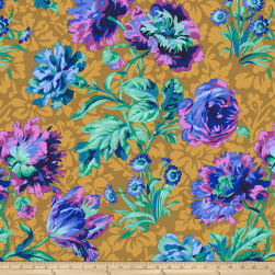 Kaffe Fassett Collective Baroque Floral Blue Fabric