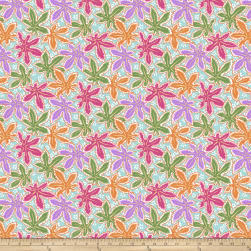 Kaffe Fassett Collective Lacy Leaf Pastel Fabric