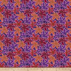 Kaffe Fassett Collective Lacy Leaf Red Fabric