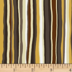 Open Sky Stripes Brown Fabric