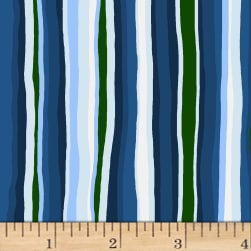 Open Sky Stripes Royal Blue Fabric