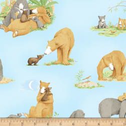 You're All My Favorites Bears Light Sky Fabric