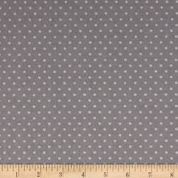 You're All My Favorites Dots Gray Fabric