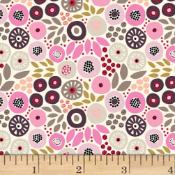 Birds and Blooms Foliage Cream Fabric