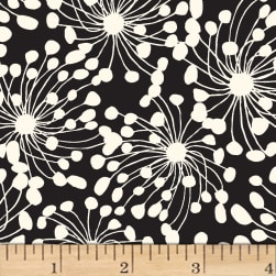 Birds and Blooms Abstract Light Cream Fabric