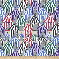 Kaffee Fassett Collective Glamping Grey Fabric
