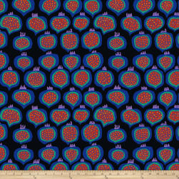 Kaffee Fassett Collective Pomegranate Black Fabric