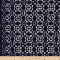 Telio Marakesh Corded Lace Navy Fabric