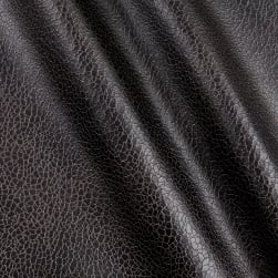 Telio Roxanne Faux Leather Knit Black Fabric