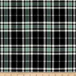 Telio Robin Poly Faille Print Plaid Black Fabric