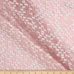 Telio Agathe Embroidered Chiffon Dusty Pink Ecru Fabric