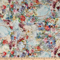 Telio Linen Digital Print Floral Multi Fabric