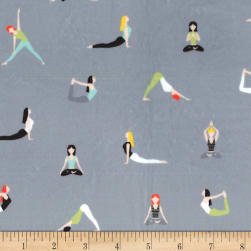 Michael Miller Minky Namaste Good Postures Spa Fabric