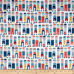Michael Miller Minky Move Along Dudes Mint Fabric