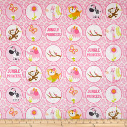 Michael Miller Minky Jungle Princess Bubbles Pink Fabric