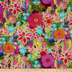 Euphoria Flowers Digital Multi Fabric