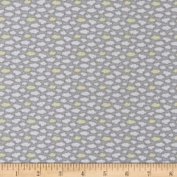 Les Enfantes Flannel Clouds Yellow Fabric