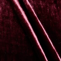 Rayon/Silk Blend Velvet Plum Fabric