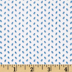 Temperance Blues Ticking Ecru/Blue Fabric