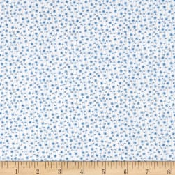 Temperance Blues Tiny Floral Ecru/Blue Fabric