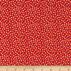 Holly's Dollies Squares Red Fabric