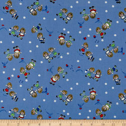 Holly's Dollies Small Dollies Blue Fabric