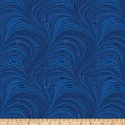 Wave Texture Cobalt Fabric