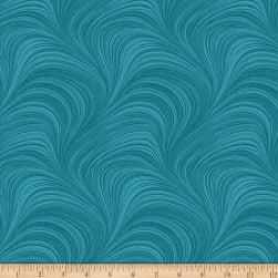 Wave Texture Turquoise Fabric
